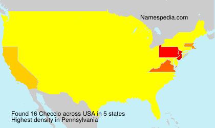 Surname Checcio in USA