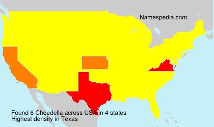 Familiennamen Cheedella - USA