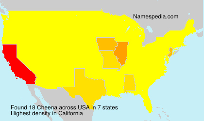 Surname Cheena in USA