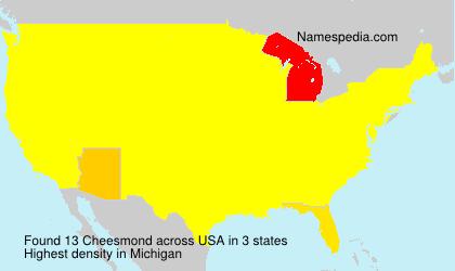 Familiennamen Cheesmond - USA
