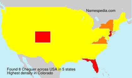 Familiennamen Cheguer - USA