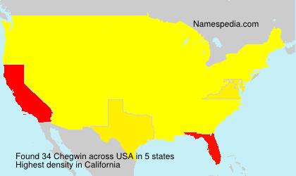 Surname Chegwin in USA