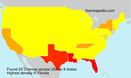 Surname Chemay in USA