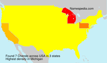Surname Chende in USA