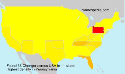 Surname Chenger in USA