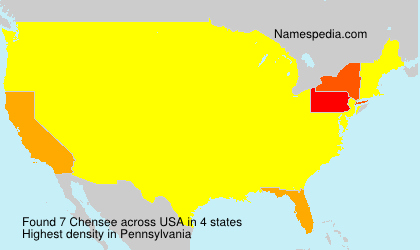 Surname Chensee in USA
