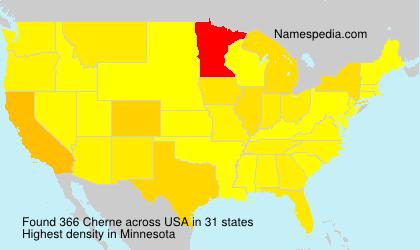 Surname Cherne in USA