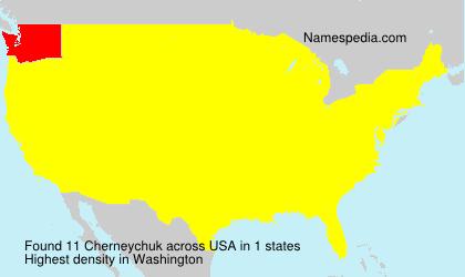 Familiennamen Cherneychuk - USA