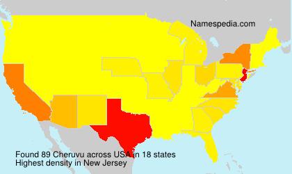 Surname Cheruvu in USA
