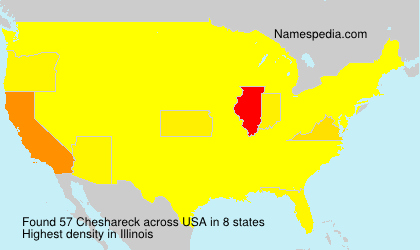 Surname Cheshareck in USA