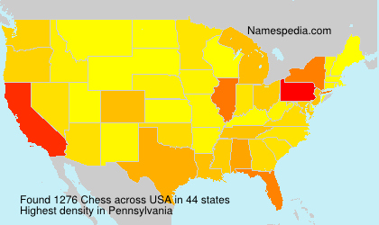 Surname Chess in USA
