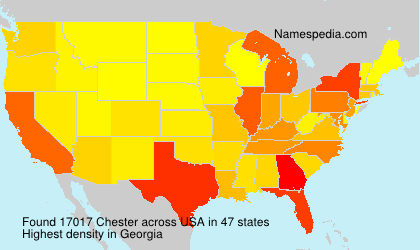 Surname Chester in USA