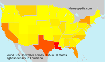 Surname Chevallier in USA