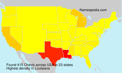 Familiennamen Chevis - USA