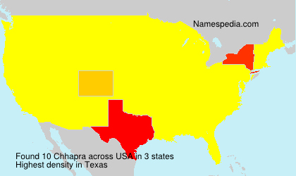 Surname Chhapra in USA
