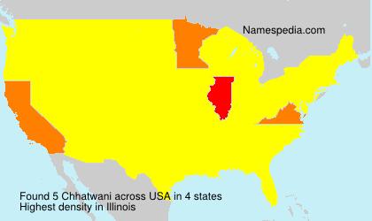 Surname Chhatwani in USA