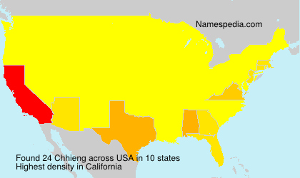 Surname Chhieng in USA