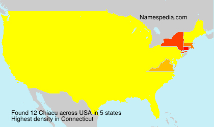 Surname Chiacu in USA