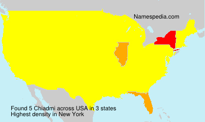 Surname Chiadmi in USA