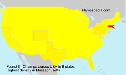 Surname Chiampa in USA