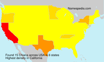 Surname Chiana in USA