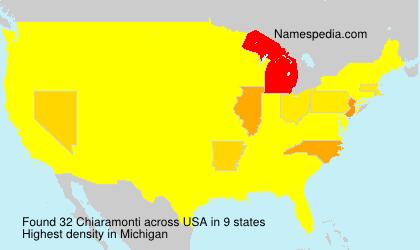 Familiennamen Chiaramonti - USA
