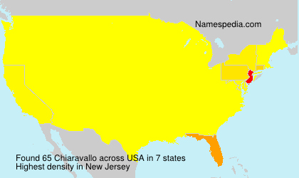 Familiennamen Chiaravallo - USA