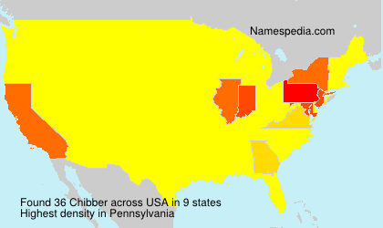 Surname Chibber in USA