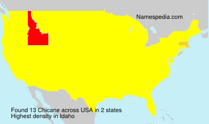 Surname Chicane in USA