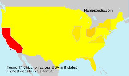 Familiennamen Chicchon - USA