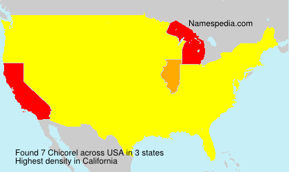 Surname Chicorel in USA