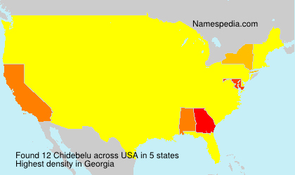 Surname Chidebelu in USA