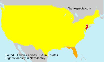 Familiennamen Chidiak - USA