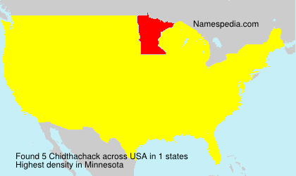Surname Chidthachack in USA