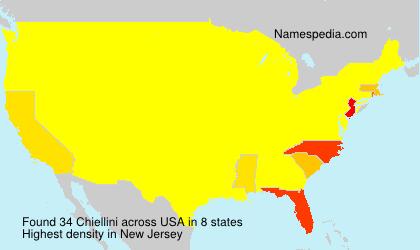 Surname Chiellini in USA