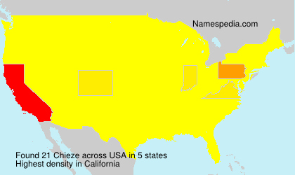 Surname Chieze in USA