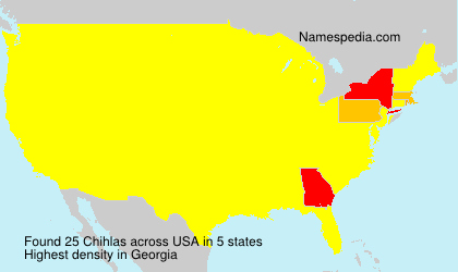 Surname Chihlas in USA