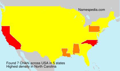 Familiennamen Chikhi - USA