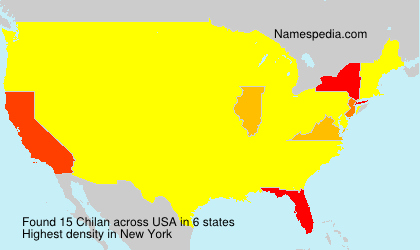 Surname Chilan in USA