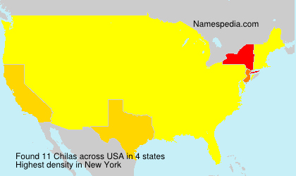 Surname Chilas in USA