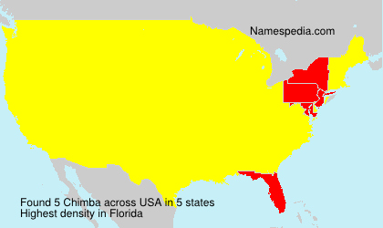 Surname Chimba in USA
