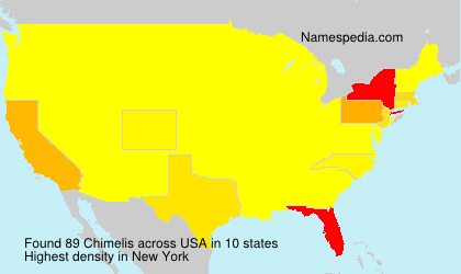 Surname Chimelis in USA