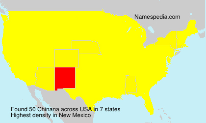 Familiennamen Chinana - USA