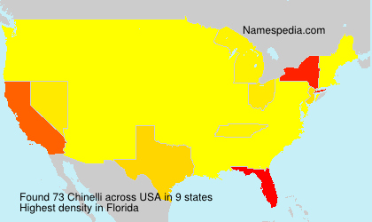 Surname Chinelli in USA