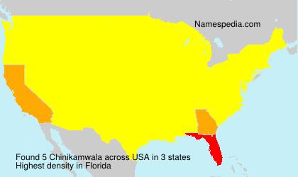 Surname Chinikamwala in USA