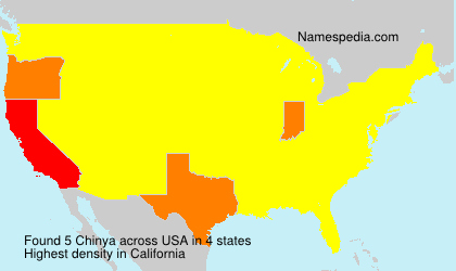 Surname Chinya in USA