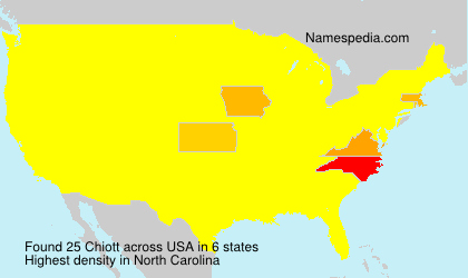 Surname Chiott in USA