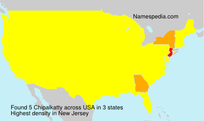 Surname Chipalkatty in USA