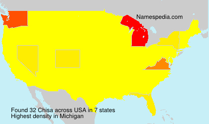 Surname Chisa in USA