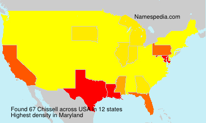 Surname Chissell in USA